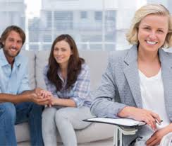 Jackson Hole counseling image showing counselor with couple in background